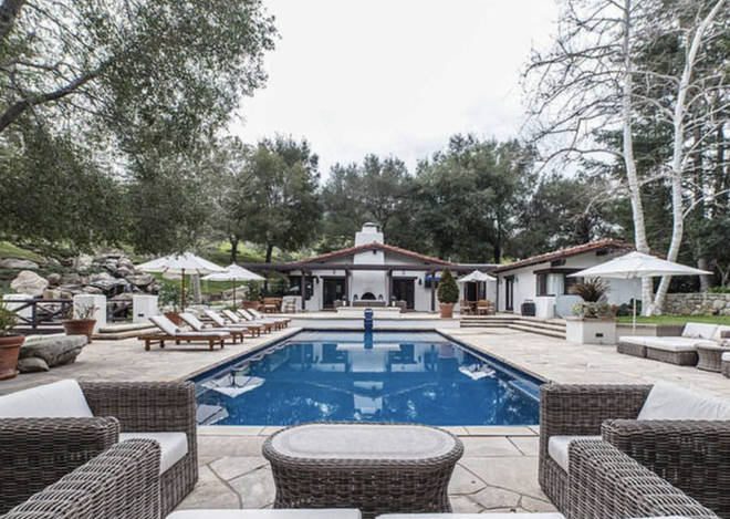 The mansion's best feature is the sprawling outdoor pool area