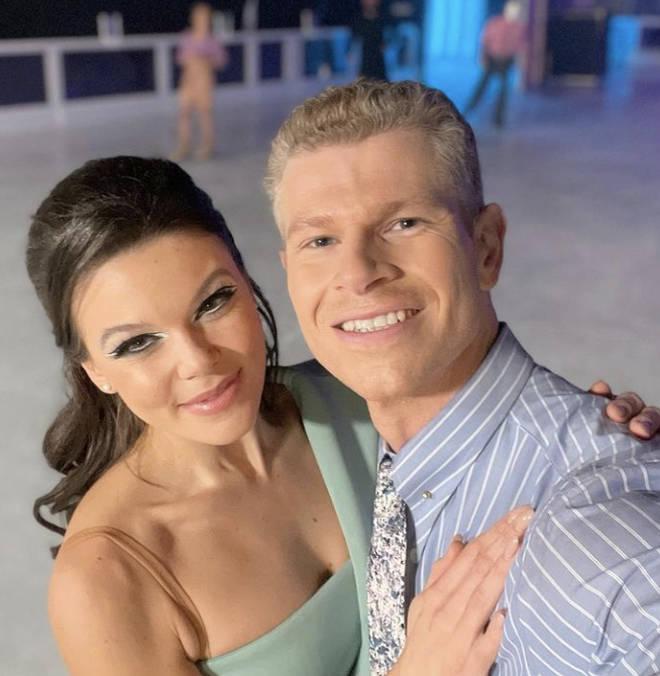 Faye Brooks's Dancing On Ice partner is Hamish Gamen