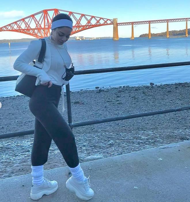 Vanessa Hudgens hanging out in Fife, Scotland baffled fans