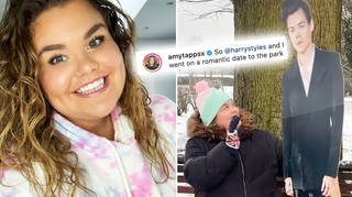 'Googlebox's' Amy Tapper spends day out with Harry Styles cardboard cutout