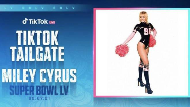 Miley Cyrus leading NFL's TikTok tailgate
