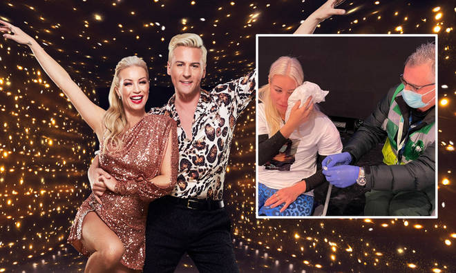 Denise Van Outen's injury forced her to quit Dancing on Ice