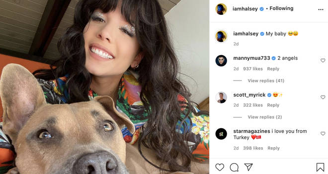 Halsey captions Instagram post with dog 'my baby' days before announcement