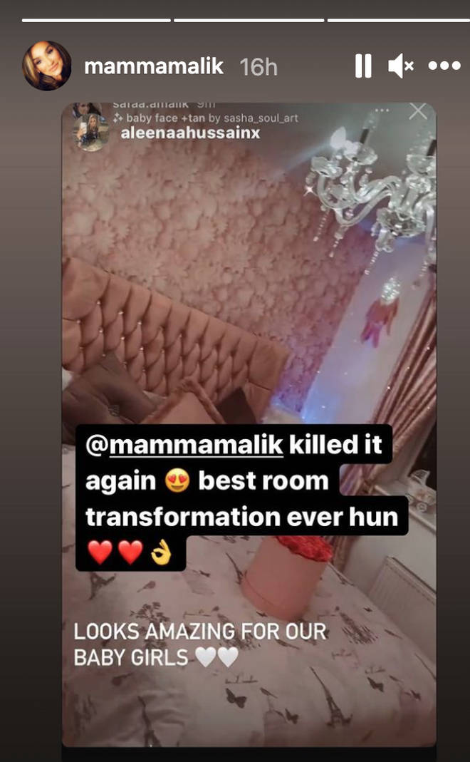 Zayn's mum shared the playroom on her Instagram story.
