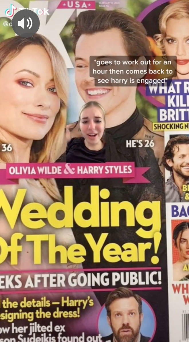 A Harry Styles fan shared a publication which claimed the star is engaged.