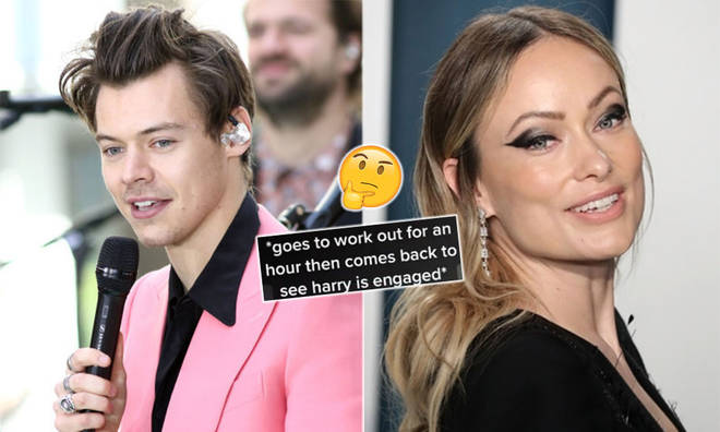 Harry Styles' fans were left confused after a rumour circulated that he's engaged to Olivia Wilde.