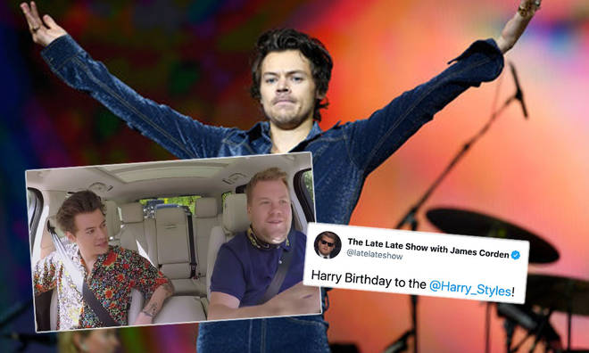 James Corden sent birthday wishes to Harry Styles in the funniest way