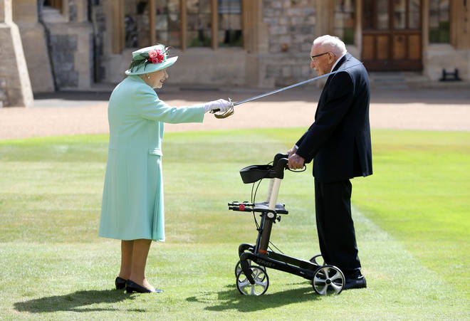 The Queen Knighted Captain Tom in 2020