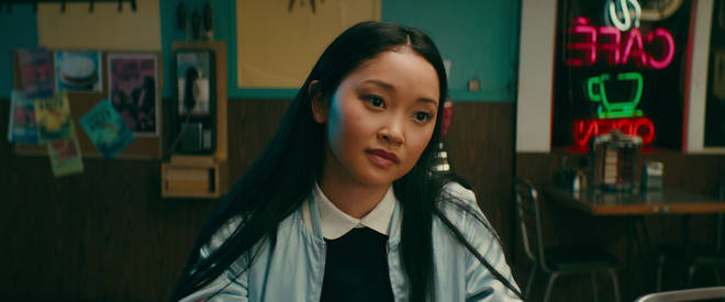 Lana Condor as Lara Jean in To All the Boys I've Loved Before
