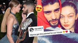 Gigi Hadid told fans which pic of her and Zayn Malik she wanted to treasure in their home.