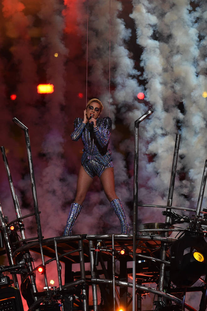 Lady Gaga at the NFL halftime show in 2017