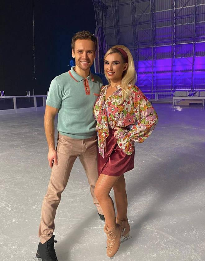 Mark Hanretty is Billie Faiers' partner on Dancing On Ice.