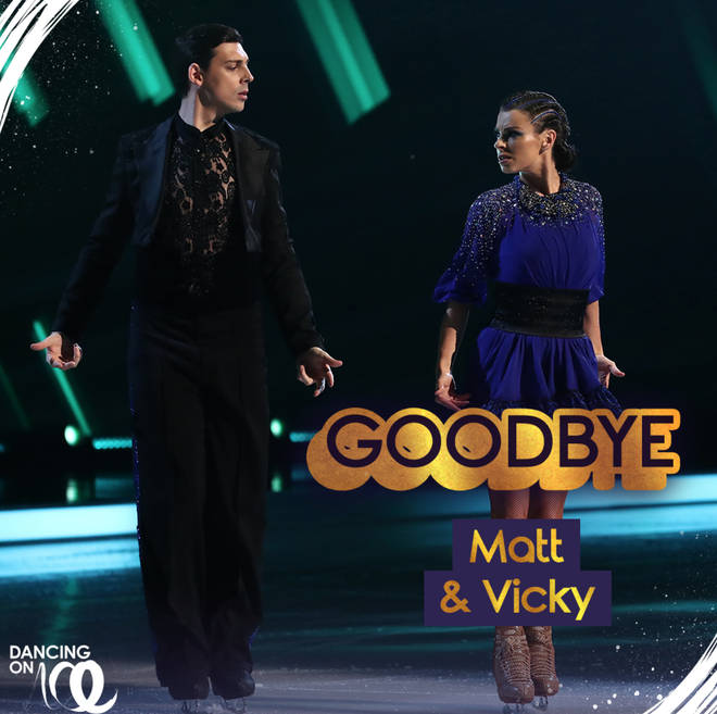 Matt Richardson was voted off Dancing on Ice in his first week on the show