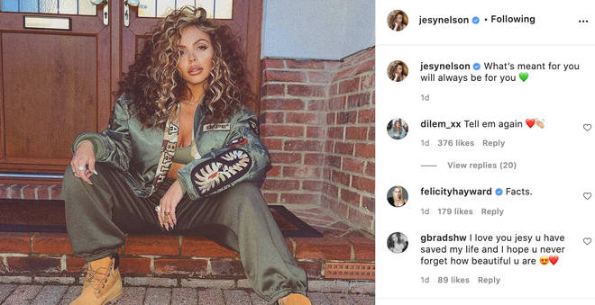 Jesy Nelson posts another glamorous shot to Instagram