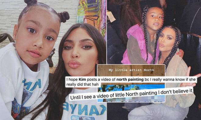 Kim Kardashian posted a snap of her daughter's 'painting' on social media.