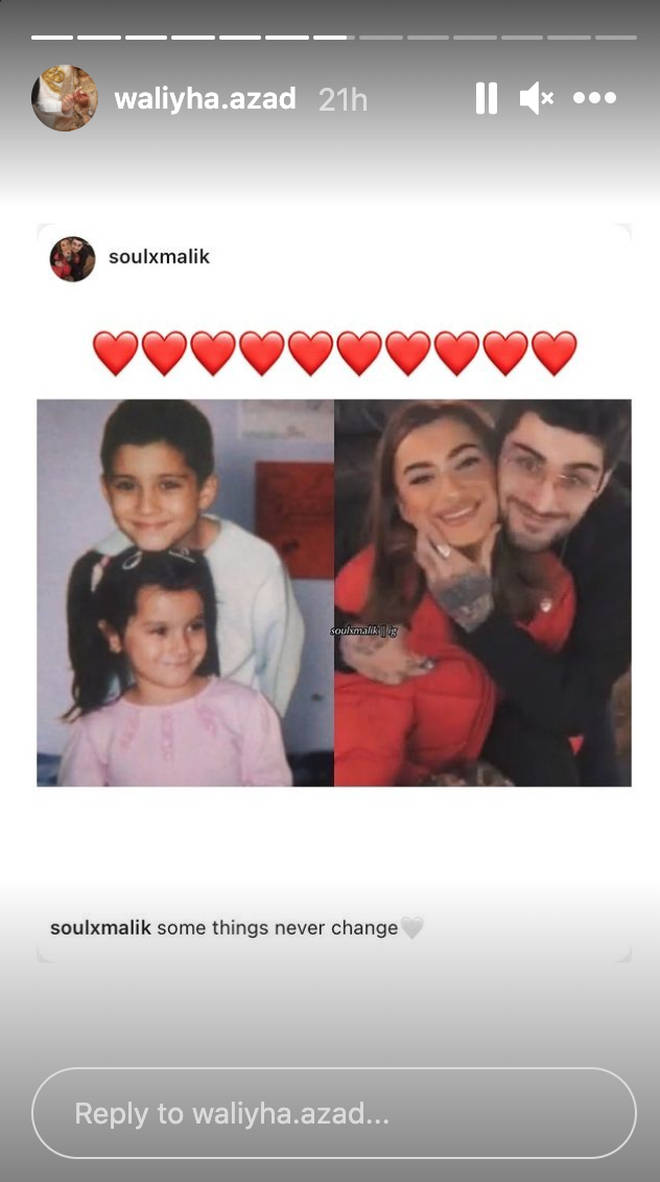 Waliyha shared the cute picture with Zayn on her Instagram story.