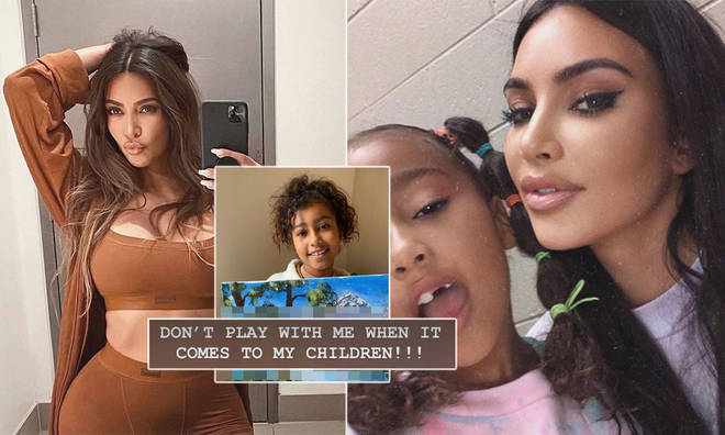 Kim Kardashian clapped back at critics over her daughter's painting.