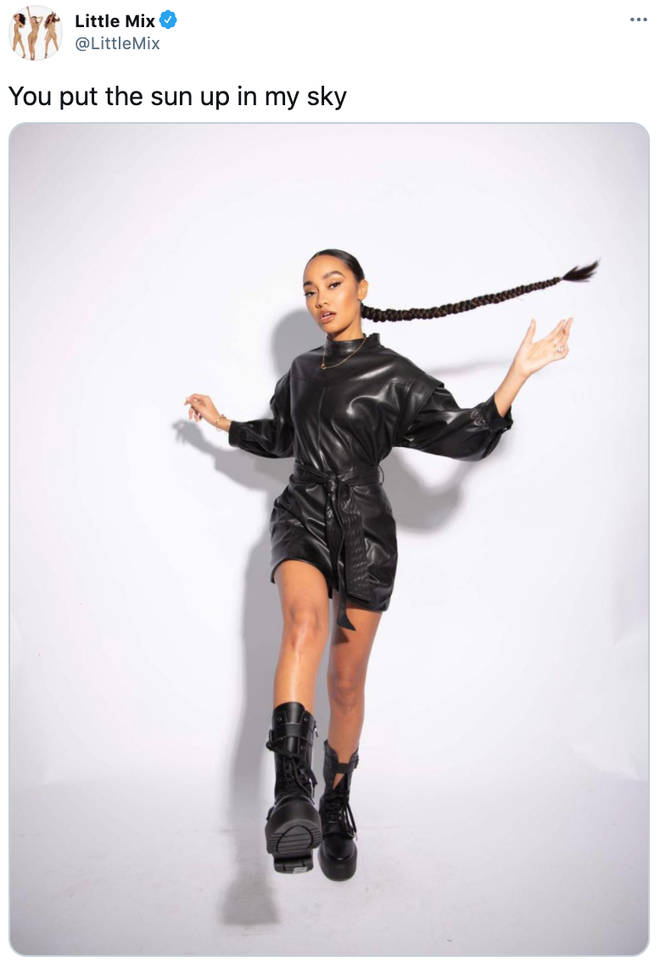 Leigh-Anne Pinnock's picture was accompanied with a lyric from Jesy Nelson's line in 'Holiday'