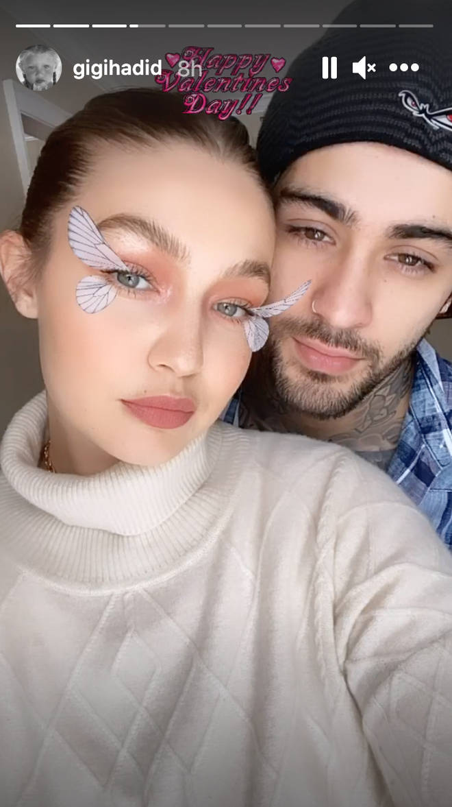 Gigi Hadid shared loved-up snaps with Zayn.
