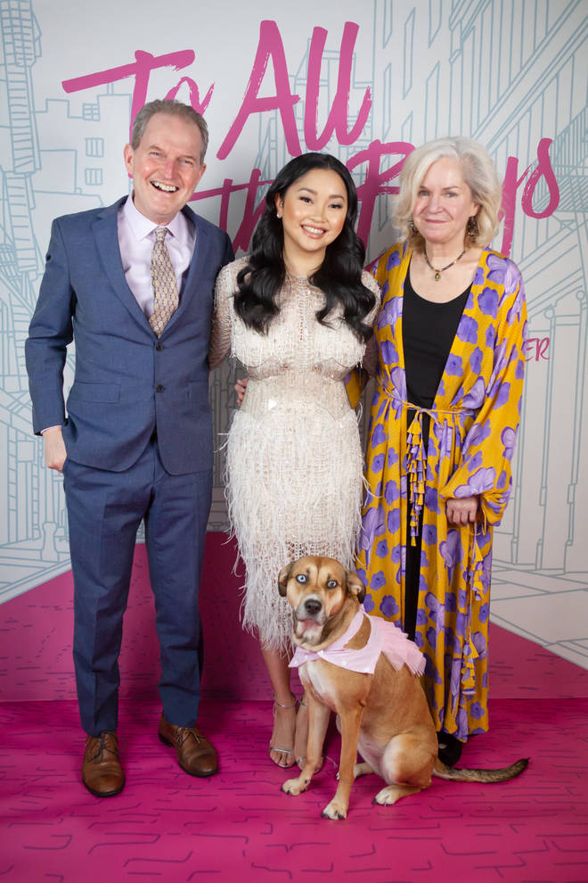 Lana Condor and her parents at the To All the Boys 3 virtual premiere