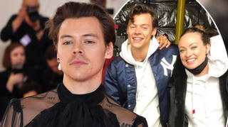 Harry Styles and Olivia Wilde cosied up for a Don't Worry Darling team photo