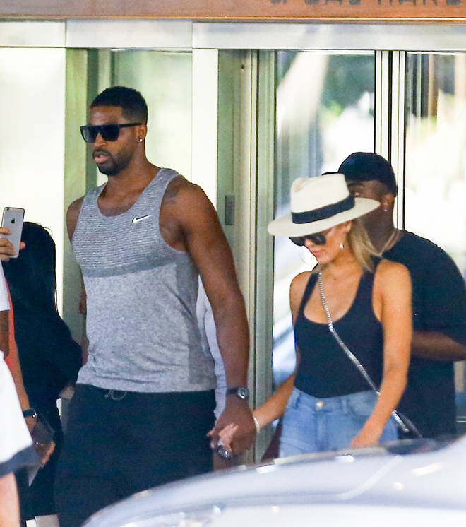 Khloe Kardashian and Tristan Thompson spotted together in Miami 2016