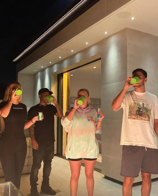 Kendall Jenner shared snaps of her friends tasting the 818 tequila.
