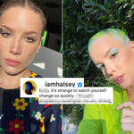Halsey opened up about her views on her body during pregnancy.