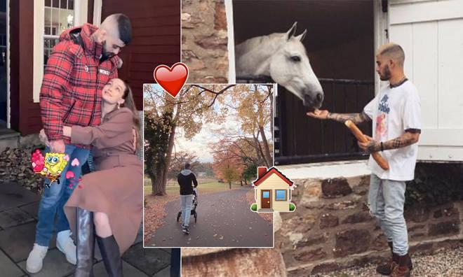 Zayn Malik & Gigi Hadid spent Valentine's Day on their farm.
