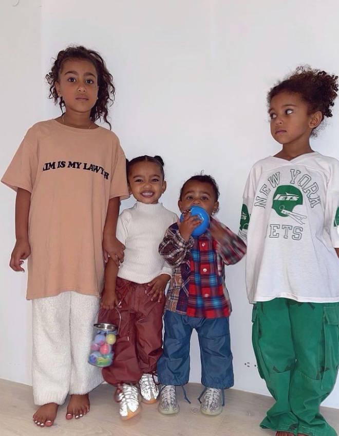 Kim Kardashian and Kanye West's four kids; North, Chicago, Psalm and Saint