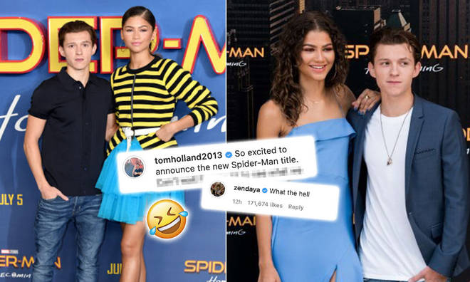 Zendaya and Tom Holland had a hilarious exchange on Instagram.
