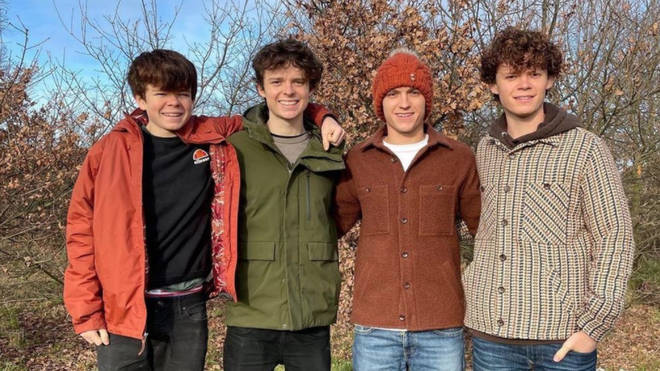 Brothers Paddy, Sam, Tom and Harry Holland