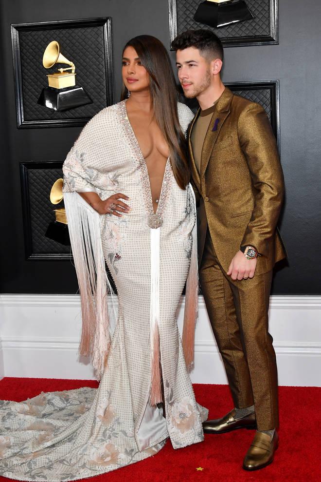 Priyanka Chopra and Nick Jonas at the Grammys 2020