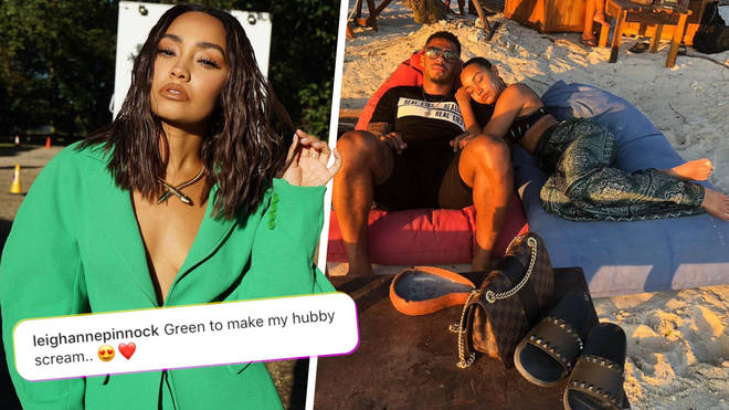 Leigh-Anne Pinnock joked that she was already married to Andre Grey