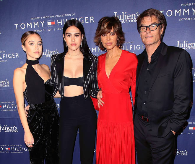 Lisa Rinna, Harry Hamlin and their two daughters Amelia and Delilah