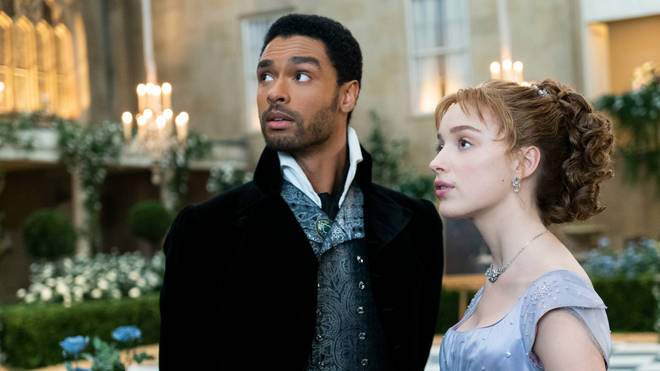 Regé-Jean Page and Phoebe Dynevor as The Duke and Daphne in Bridgerton