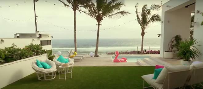 The Love Island villa is by a gorgeous beach