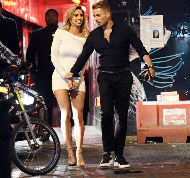 Ferne McCann and Love Island's Charlie Brake were spotted holding hands on a night out