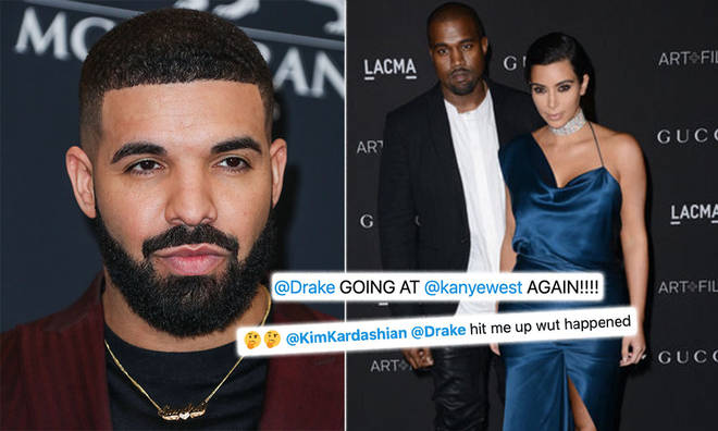 Drake has sent fans wild over his cryptic lyrics about Kanye West.