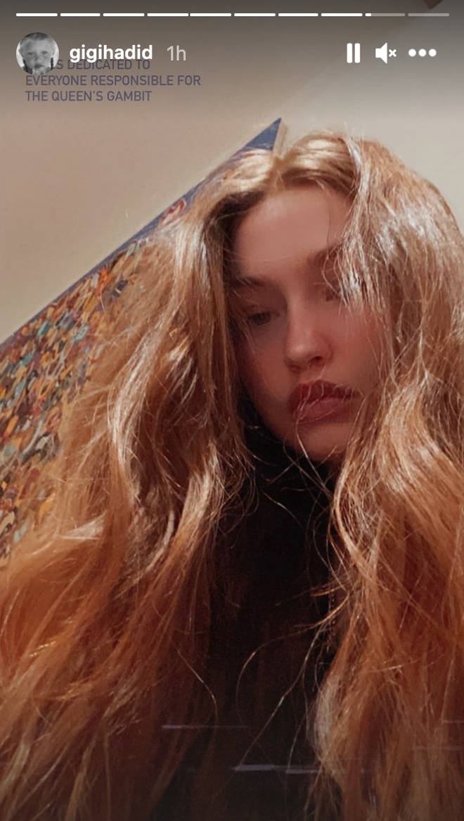 Gigi Hadid stunned fans with her red locks.