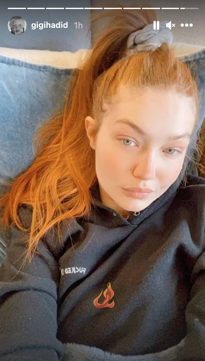 Gigi Hadid showcased her new hairdo with a selfie.
