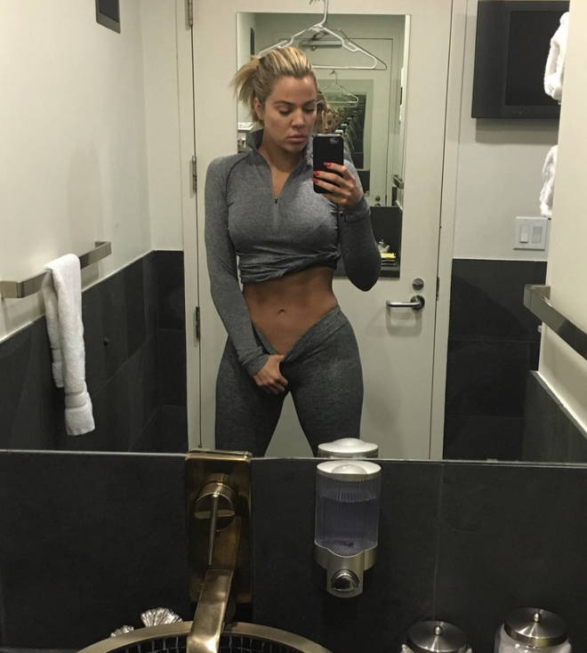 Khloé Kardashian proudly shows off her abs after shedding over 2 stone