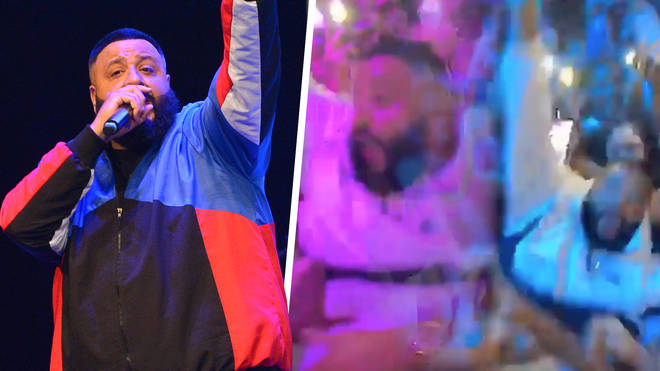 Fans were quick to spot DJ Khaled's attempt at his first stage dive