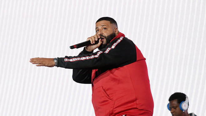 DJ Khaled was on stage dancing to 'Leave Me Alone' before his stage dive