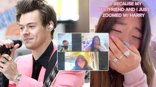 Two fans got to sit down with Harry Styles over Zoom and Stylers are freaking out.