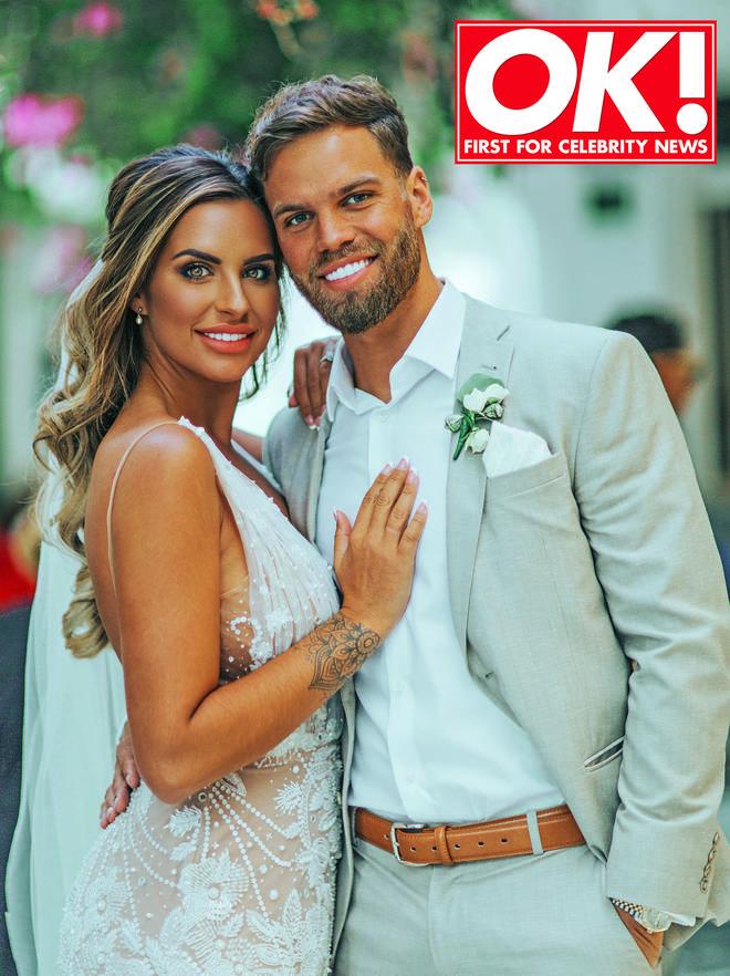 The couple revealed their stunning wedding photos.