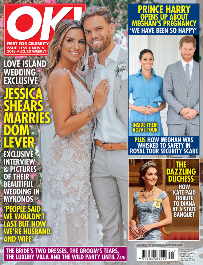 Jess and Dom are on the cover of OK! Magazine.