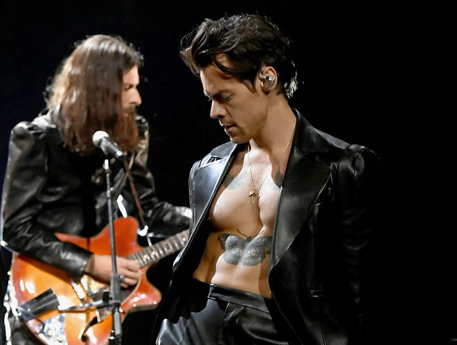 Harry Styles performed 'Watermelon Sugar' at the Grammys