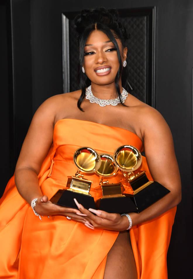 Megan Thee Stallion won three Grammys
