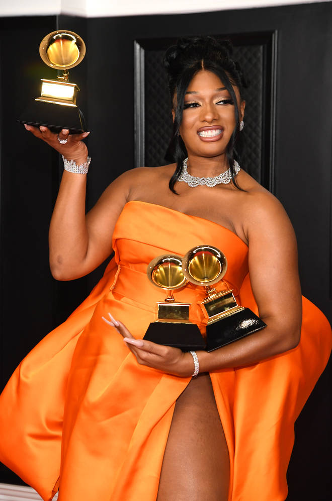 Megan Thee Stallion won three Grammys